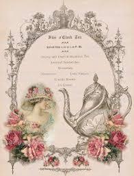 Buy Clock by Victorian Five O U0027clock Tea English Large Digital Download Pink