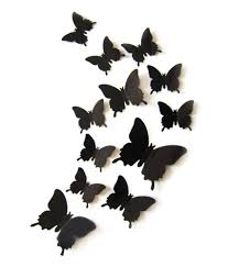 50 off on admi removable 12 pcs 3d butterfly wall sticker magnet admi removable 12 pcs 3d butterfly wall sticker magnet art design decorative butterfly stickers black