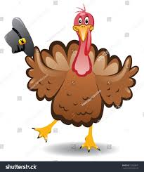 vector turkey clipart happy thanksgiving day stock vector
