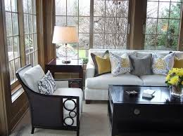 Living Room Sofa Pillows Design Ideas Use Throw Pillows To Bring In The Gray And Yellow