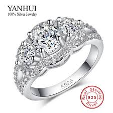diamond rings aliexpress images Promotion purity silver wedding rings for women 925 sterling jpg