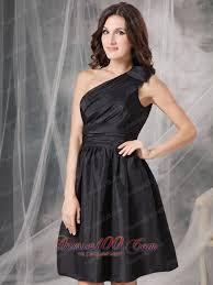 one shoulder short form fitting dress ruched mini length short