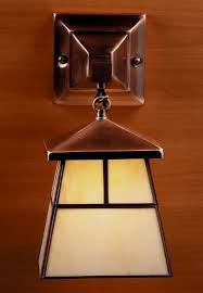 Mission Style Wall Sconce Mission Tiffany Lamps Lighting Stained Glass Arts U0026 Crafts Craftsman