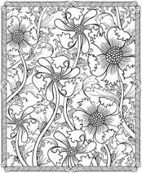 flower coloring pages adults 15169 bestofcoloring