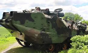 amphibious vehicle military us amphibious assault vehicle landing at naval training center