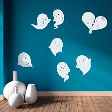 halloween wall stickers wall art kids ghosts cute wall sticker
