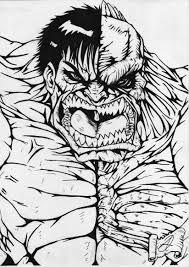 hulk abomination artwork bw darkartistdomain deviantart