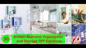 30 brilliant bathroom organization and storage diy solutions youtube