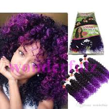 purple hair extensions curly wave peruvian hair curly 6 bundles ombre purple