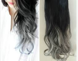 black grey hair black and grey hair etsy