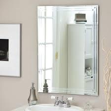 décor wonderland frameless tri bevel wall mirror 23 5w x 31 5h
