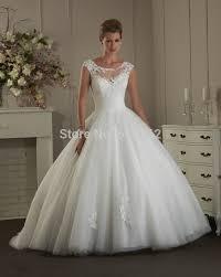 Discount Wedding Dress Aliexpress Com Buy Princess Ball Gown Scoop White Organza