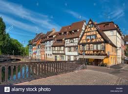 bridge above the lauch river little venice colmar alsace