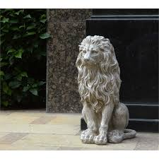 lion garden statue sitting lion garden statue at homebase co uk