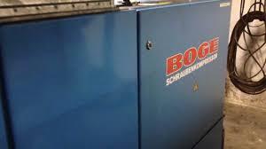 schraubenkompressor vlex boge 1387 a youtube