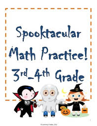 spooktacular math 3rd and 4th grade halloween worksheets by