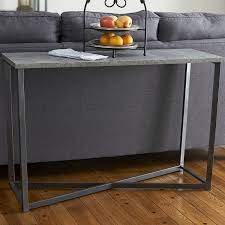 Concrete Console Table 17 Stories Vlad Slate Faux Concrete Rectangular Console Table