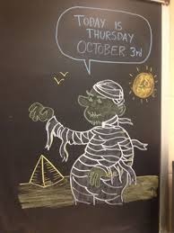 chalkboard drawings the u201challoween countdown part 1 u201d edition