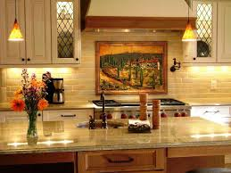 Kitchen Wall Decor Ideas Picture Of Small Tuscan Kitchen Island Design With Sink