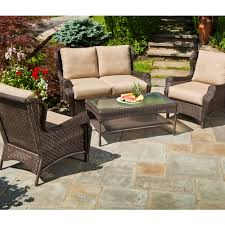 Synthetic Wicker Patio Furniture - furniture lowes patio tables for outdoor patio furniture design