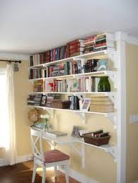 Built In Bookshelves With Desk by Good Idea For Basement Office Area With Built In Bookshelves Desk