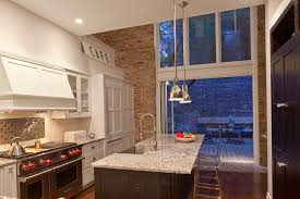 aluminum backsplash kitchen clear counter stools kitchen modern with accordion door aluminum