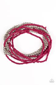 red bracelet thread images Paparazzi accessories bead street red jpg