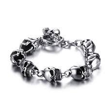 bracelet men skull images Skulls chain bracelet metalhead society jpg