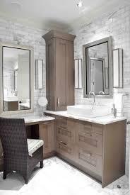 corner bathroom sink ideas image result for l shaped one sink vanity with makeup vanity