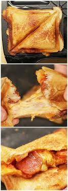 Grilled Pizza Pockets with a Sandwich maker Good Eats