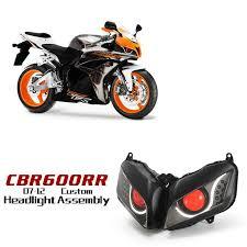 honda cbr 600 2012 honda cbr600rr led hid projector headlight assembly v2 2007 2008
