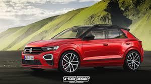 volkswagen t roc gti rendering gets the 200 hp crossover just