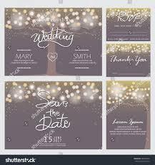 wedding invitation rsvp thank you card stock vector 364054952