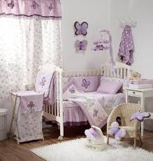 Wicker Crib Bedding Chic Purple Damask Crib Bedding Only For Room