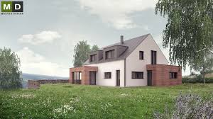 energy house low energy house in the hillside with a gable roof hýskov u