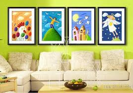 Cartoon Wall Painting In Bedroom Painting For Kids Rooms Interiors Design