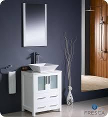 Bathroom Vanities 24 Inches by Fresca Torino 243939 White Small Vessel Sink Bathroom Vanity W 24