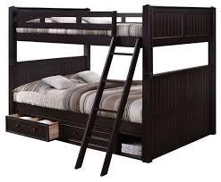 Foster Queen Over Queen Bunk Bed With Underbed Storage - Espresso bunk bed