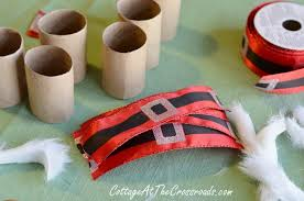 santa belt ribbon diy santa napkin rings cottage at the crossroads