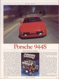 porsche 944 road test porsche 944 s car driver mag 08 1987 porsche cars history