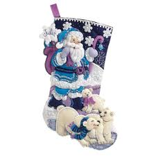 bucilla artic santa felt sequin kit