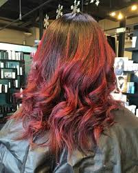 red wella magma balayage by louise at lustria salon and spa natick