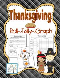 thanksgiving roll tally graph math activity set k 1 by the mcgrew crew