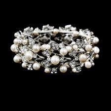bridal bracelet images Crystal and pearl bridal bracelet amy zaphira bridal jpg