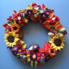 autumn wreath crochet autumn wreath crafts kids