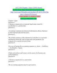 acc 556 chapter 1 quiz 100 score by abhilashp udukadapple1234 issuu