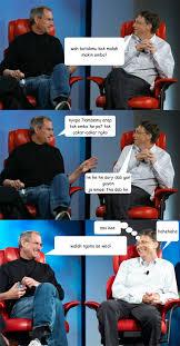 Bill Gates Steve Jobs Meme - steve jobs vs bill gates memes quickmeme