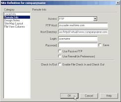 configure xp dreamweaver dreamweaver 4 and mx publishing