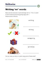Silent Letters Worksheets Writing U0027wr U0027 Words