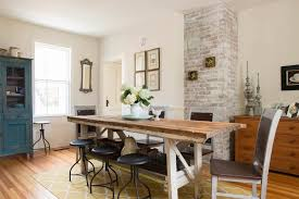 The Brick Dining Room Furniture Brick Dining Room Dining Room Industrial With Brick Wall Adhesive